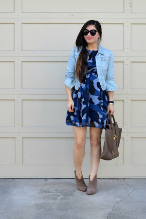 babydoll Boohoo dress - denim H&M jacket - 31 Phillip Lim bag