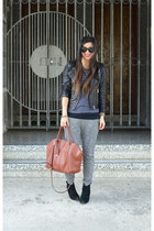 leather H&M jacket - asos boots - 31 Phillip Lim x Target bag - Gap t-shirt