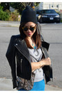 Beanie-curtis-kulig-x-uo-hat-leather-h-m-jacket-sequin-minusey-bag