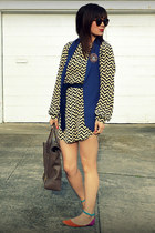 everly dress - Phillip Lim bag - Zara vest - shoemint flats