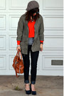 Forever-21-jeans-forever-21-hat-zara-jacket-orange-h-m-sweater