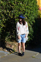 kimono Zara jacket - Matiko shoes - Forever 21 hat - Forever 21 shorts