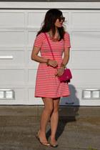 pink Forever 21 dress - coach purse - Karen Walker sunglasses