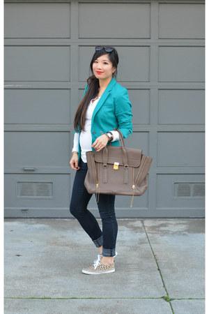 H&M blazer - henley Gap shirt - pashli 31 Phillip Lim bag