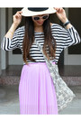 Panama-h-m-hat-stripes-forever-21-shirt-maxi-forever-21-skirt
