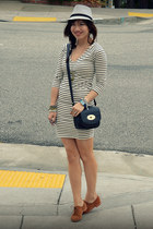 Target hat - Amour Vert dress - DV by dolce vita loafers