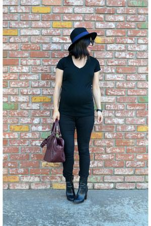 Forever 21 hat - H&M boots - asos jeans - studded handle Forever 21 bag