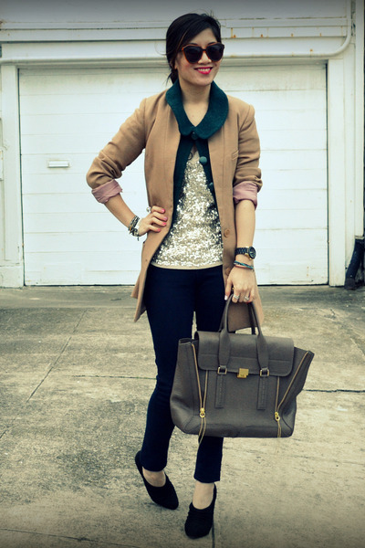 unknown brand jacket - H&M jacket - Paige jeans - JCrew top