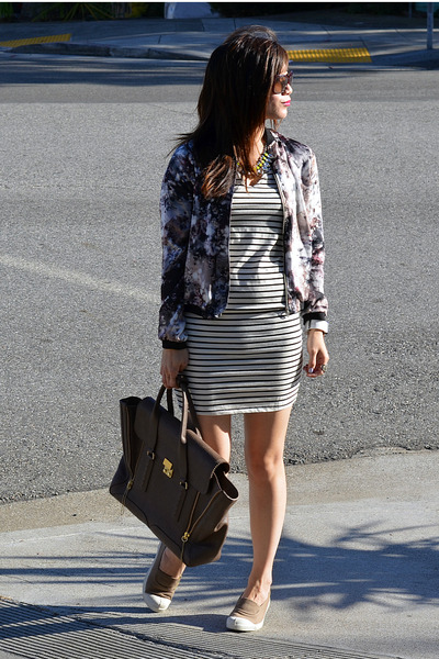 31 Phillip Lim bag - Bensimon shoes - stripe Amour Vert dress