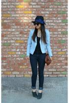 Forever 21 jeans - Forever 21 hat - Zara jacket - Clare Vivier bag