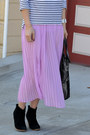 Asos-boots-stripe-h-m-shirt-foley-corinna-bag-forever-21-skirt