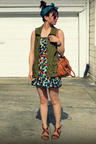 skirt as dress Anthropologie dress - Old Navy vest - H&M sandals