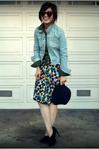 Anthropologie skirt - Reiss hat - H&M jacket - Old Navy shirt - Max Studio heels