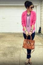 Paige jeans - H&M blazer - Michael Kors bag - Enzo Angiolini heels - H&M top