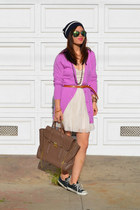 orchid cotton on cardigan - tulle Forever 21 dress - Gap hat