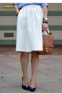 White-h-m-skirt-gap-shirt-willis-coach-bag-karen-walker-sunglasses