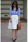Gap-shirt-willis-coach-bag-karen-walker-sunglasses-white-h-m-skirt