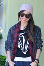 Plaid-stylemint-vest-forever-21-jeans-h-m-hat-rag-bone-x-target-sweater