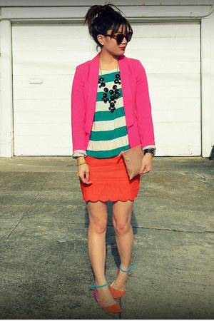 H&M blazer - H&M top - f21 skirt