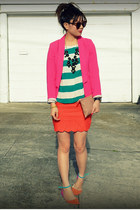H&M blazer - H&M top - f21 skirt