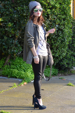 Zoe Karssen t-shirt - Theyskens Theory shoes - H&amp;M hat - Zara jacket