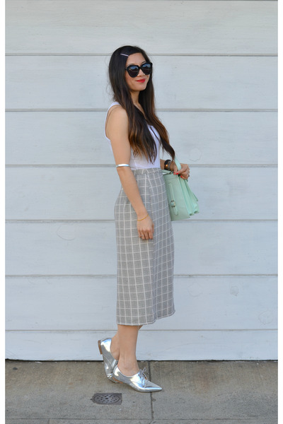 mono B skirt - Nordstrom shoes - loeffler randall bag