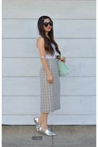mono B skirt - Nordstrom shoes - loeffler randall bag