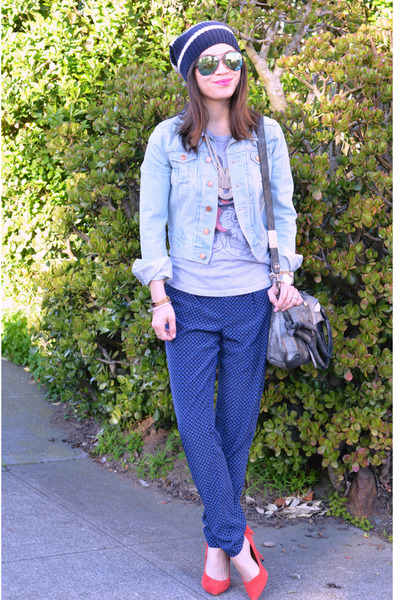 Gap hat - jean H&M jacket - foley & corinna bag - Forever 21 pants - Gap heels