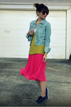 H&M skirt - H&M jacket - f21 top - H&M sneakers