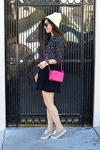 leopard print H&M sneakers - beanie asos hat - star print H&M Kids shirt