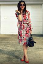 H&M dress - sdgf bag - Tabio heels