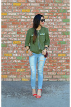 H&M jacket - distressed Ross jeans - Prabal Gurung x Target heels