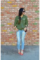 H&M jacket - distressed Ross jeans - Prabal Gurung x Target heels