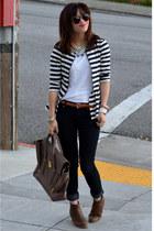 31 Phillip Lim bag - Old Navy boots - Forever 21 jeans - peplum Zara jacket