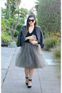 Leather-h-m-jacket-sequin-minusey-bag-zara-heels-tulle-asos-skirt