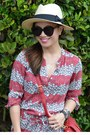 Celia-birtwell-x-uniqlo-dress-panama-h-m-hat-tory-burch-bag