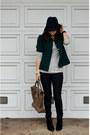 Asos-boots-as-top-amour-vert-dress-forever-21-jeans-green-thrifted-jacket