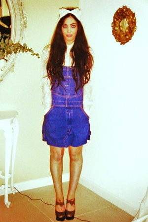 lace H&amp;M shirt - Urban Outfitters dress - lace hairband Primark accessories