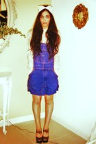 lace H&M shirt - Urban Outfitters dress - lace hairband Primark accessories