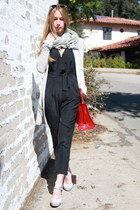 oversized acne blazer - cashmere Isabel Marant scarf - vinyl Delvaux bag