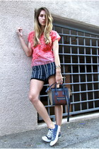 Celine bag - PROENZA SCHOULER shorts - acne top