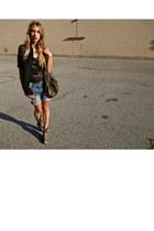 leopard print Rachel Comey boots - jean boyfriend Hurley shorts