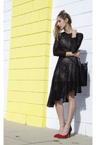 lace Lover dress - bucket Mansur Gavriel bag - tweed Isabel Marant heels