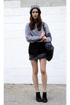 Wool and the Gang hat - Isabel Marant skirt - chukka Common Projects sneakers