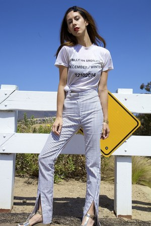 vintage Billy made me do it t-shirt - stripe Acne Studios pants