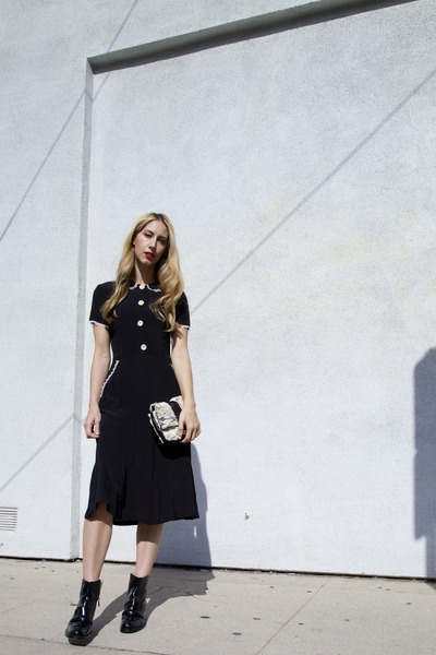 dana bio Stella McCartney boots - sebastian DAWN dress - Phillip Lim bag