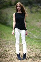 eyelet Isabel Marant jeans - dicker Isabel Marant boots - muscle ALC t-shirt