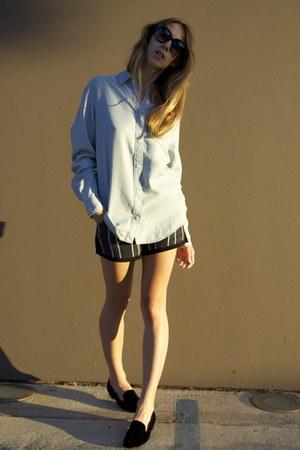 knit suede PROENZA SCHOULER shorts - Celine sunglasses