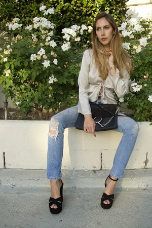 Re-Done jeans - faye Chloe bag - candy Saint Laurent sandals