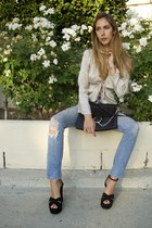 Re-Done jeans - faye Chloe bag - candy Saint Laurent sandals